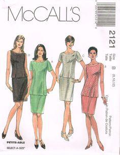 *2121 Sew Pattern McCall's Princess Seam Top & Skirt choose 8-10-12 or 18-20-22