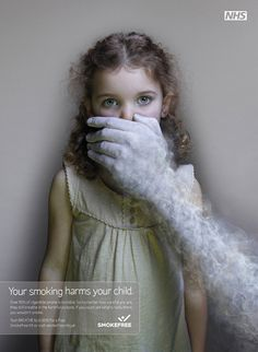 Your smoking harms your child. PCM - Pure Creative Management