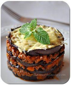 Moussaka légère ou mille feuilles d'aubergine - Recettes by Hanane