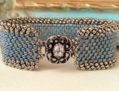 Peyote Stitch Bracelet Statement Country by CountryChicCharms