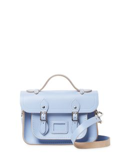 The Cambridge Satchel Company Mini Satchel Bag Shoulder Strap, Shoulder Bags, Cambridge Satchel, Satchel Bag, Blue Bags, Leather Bag, Autumn Fashion, Logo Design, Handbags