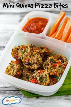 Mini Quinoa Pizza Bites - MOMables® - Real Food Healthy School Lunch & Meal…
