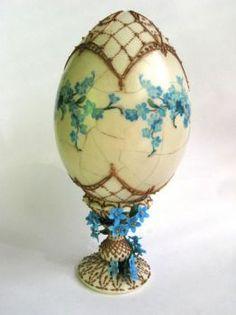 Декупаж - Сайт любителей декупажа - DCPG.RU  Пасхальное яйцо  Незабудки (88 pieces)