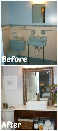 Small Bathroom Decorating Ideas Diy can't get enough of this bathroom. amazing transformation. and