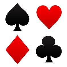 free clip art of red and black playing card suits spades hearts rh pinterest com