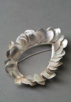 Silver Petal Brooch