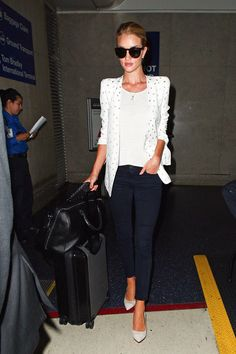 Elevate your white t-shirt and jeans a la Rosie Huntington Whiteley