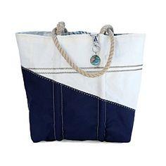 Sea Bags Custom Daytrip Society Map Tote - Hemp Handle - Medium