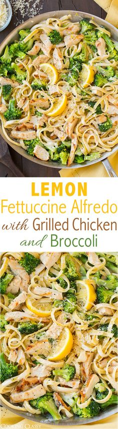 Lemon Fettuccine Alfredo with Grilled Chicken and Broccoli - this is AMAZING and it's made with a lighter sauce! Definitely adding this to my dinner rotation, my whole family loved it!