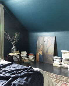 Moody Bedroom - eclectic - bedroom - toronto - by Jenn Hannotte / Hannotte Interiors