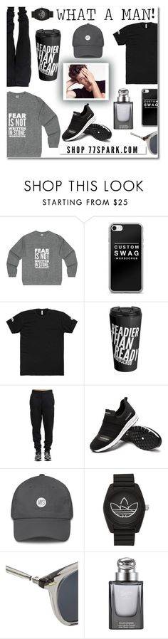 """""""What a man! By 77 Spark"""" by branqa on Polyvore featuring White Label, adidas, Oliver Peoples, Gucci, men's fashion, menswear, contest, man and 77spark"""