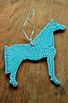 Hand crafted ceramic horse ornament