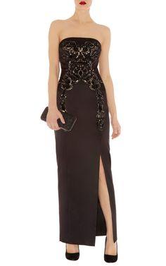 Karen Millen DP271 Baroque jewelled maxi dress Black | eBay