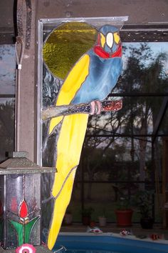 Stained glass parrot #2