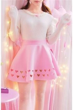 Pastell Goth Outfits, Pastel Outfit, Girly Outfits, Cute Casual Outfits, Pretty Outfits, Pastel Skirt, Skirt Outfits, Harajuku Fashion, Kawaii Fashion