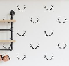 40 pcs per lot Antlers Wall Decals for Living Room Solid Animal Style Wall Stickers Self Adhesive Vinyl Stickers Mural Nursery Wall Decals, Vinyl Wall Decals, Wall Stickers, Warm Grey, Brown And Grey, Extra Rooms, Baby Room Decor, Wall Decor, Floral Wall