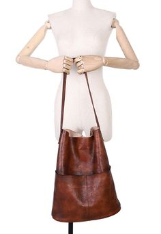 Medium Womens Handmade Dark Brown Leather Purse Handbags For Women