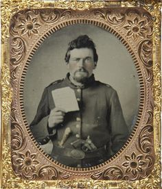 Tintype Civil War Enlisted Man With Hardtack   1/6... - The Civil War Parlor