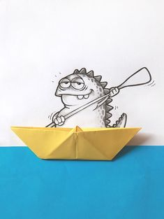 Illustrators' Pet Dragon Interacts With Everyday Objects / By Manik and Ratan