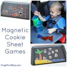 There are so many fun magnetic games to play with a cookie sheet! I picked up a basic one at Target one day, and it really came in handy on our recent road trip.  These activities are great for traveling, but I will be using them for Jonathan and Janie to keep them busy during...Read More »