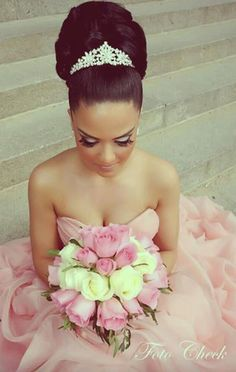 My boyfriend will take the whole package please! Him in that makeup, gown, and with that beautiful updo...heaven.