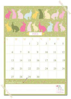 Cute universal pocket calendar n pocketjust glue the pocket on calendrier du mois davril free printable calendars 2015free solutioingenieria Images