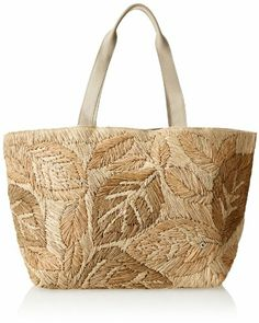 Flora Bella Women's Bastimentos Woven Leather Tote Bag, Sahara, One Size Flora Bella Tote Purse, Tote Handbags, Purses And Handbags, Fabric Tote Bags, Reusable Tote Bags, Handmade Purses, Basket Bag, Straw Bag, Creations