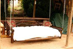 Log Day Bed / Porch swing by customrustics1 on Etsy, $899.00