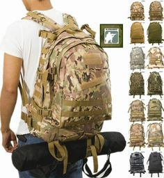 Camouflage-MULTICAM-A-TACS-ACU-MOLLE-Military-Tactical-Backpack-Bag-3D-Hiking
