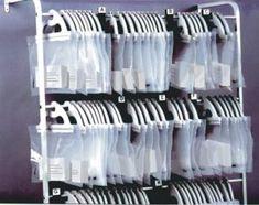Use instead dispensing trays. Dispense to customer on nice tray. Key Storage, Office Storage, Office Organization, Storage Room, Dental Office Design, Office Interior Design, Office Interiors, Dental Offices, Optometry Office