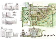 LOVE this french styled gardens!  Link includes great photos of the finished product too.