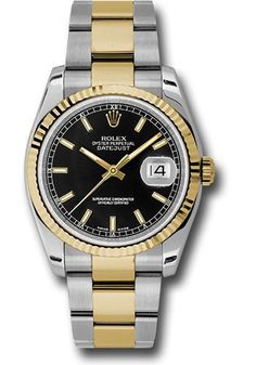 8963df068ac Rolex Oyster Perpetual Datejust 36mm - Steel and Gold Yellow Gold - Fluted  Bezel - Oyster