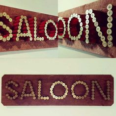 Saloon 12 Gauge Shotgun Shell Sign by USammoart on Etsy, $200.00