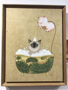 10번째 이미지 Korean Painting, Chinese Painting, Chinese Art, Korean Art, Asian Art, Art And Illustration, Cartoon Illustrations, Japanese Art Styles, Oui Oui