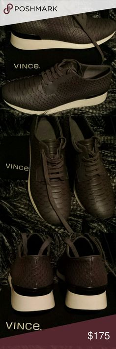 Vince Sneakers Nice charcoal grey Vince sneakers  brand new without box you can dress up or down or just running to the grocery store Vince Shoes Sneakers