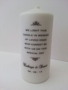 Wedding Remembrance Candle