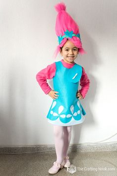 How to Make Poppy Troll Costume with video The Crafting Nook How to Make Poppy Troll Costume with video The Crafting Nook Anastasia Jessel Fasching Basteln Mit Kindern Unter nbsp hellip Troll Halloween Costume, Dyi Costume, Native American Halloween Costume, Creepy Costumes, Costume Tutorial, Diy Halloween Costumes For Kids, Disney Costumes, Couple Costumes, Princess Costumes