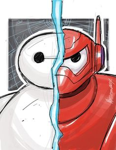 Big Hero 6 Baymax warmup sketch by MarceloMatere on DeviantArt Cute Disney Drawings, Cartoon Drawings, Easy Drawings, Bmax Disney, Disney Movies, Disney Characters, Baymax Drawing, Hero 6 Movie, Desenhos Cartoon Network