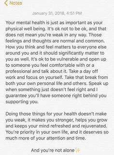 Mental health is so important, let's talk about it #mentalhealth #mindfullness #health #bellletstalk written by Alissa McMullan