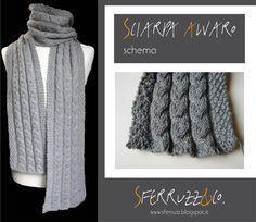 Sferruzz&Co: Schema sciarpa/Due sfumature di grigio