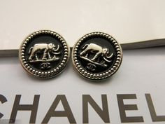 ButtonArtMuseum.com - Vintage Chanel Buttons Lot 2 Buttons