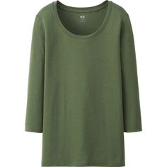 fdb13c5388e9d UNIQLO Supima Cotton Modal 3 4 Sleeve T-Shirt (£4.90) ❤