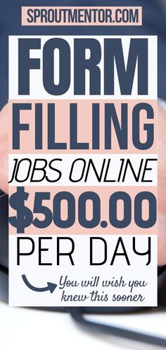 Simple form filling jobs you can use to make money online during your spare time. You do not need any experience to make extra cash with these online jobs from home. #typingjobs #dataentryjobs… More