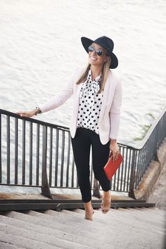 Blogger Lemon Stripes in Annie Griffin Collection's polka dot Abbay blouse!