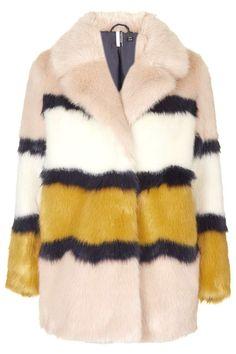 Faux Fur Colour-Block Coat - Party Like a Super - Eclectic Separates - We  Love 1ef2a1726c