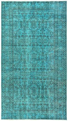 Turquoise rug Vintage rug Area rug Home and Living Area