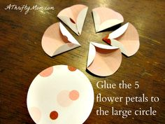 Mother's Day DIY Flowers ~ Kids Craft Ideas