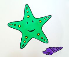 Starfish window cling, Bathroom tile decoration