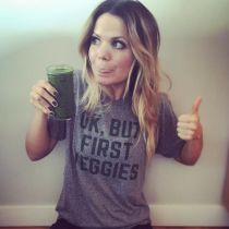 Amy shares the recipe for her green smoothie.