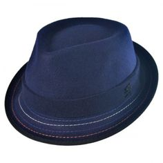 Crushable Stitch Brim Fedora Hat available at  VillageHatShop Fedora Hat b6f3934856de